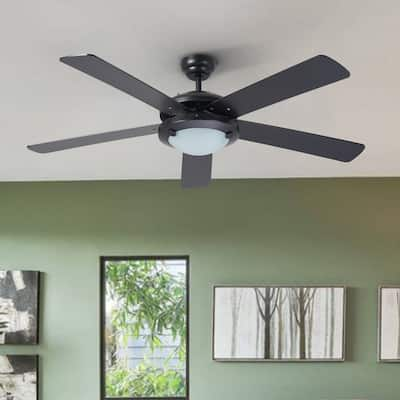 """CO-Z 52"""" 5-Blade Lighted Standard Ceiling Fan with Remote and Light Kit Included - 52 Inches"""