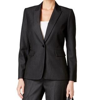Tahari By ASL NEW Dark Gray Women's Size 2 Single Button Blazer