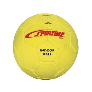 Sportime No 4 Fuzzy-Suede Indoor Soccer Ball, Yellow