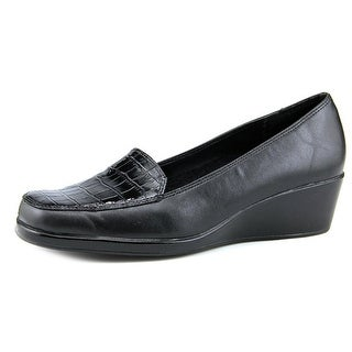A2 By Aerosoles Tempting Women  Square Toe Synthetic Black Loafer