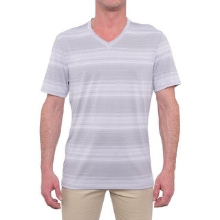 Alfani Slim V-Neck Striped T-Shirt Men Regular Basic T-Shirt