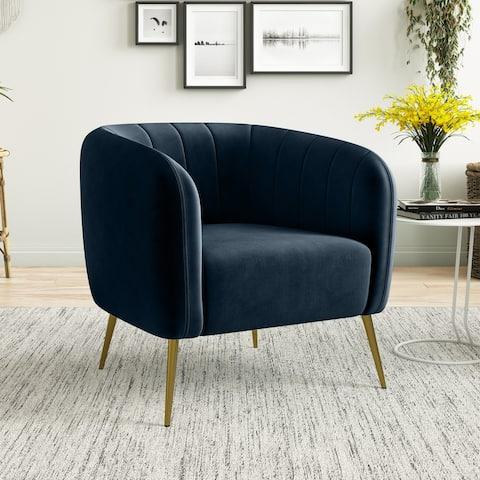 Carson Carrington Chandler Channel-Tufted Barrel Chair