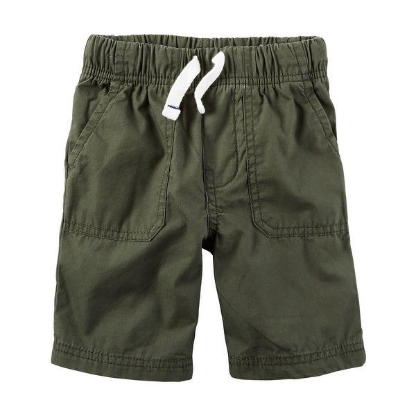 Carter's Little Boys' Pull-On Poplin Shorts, 5-Toddler