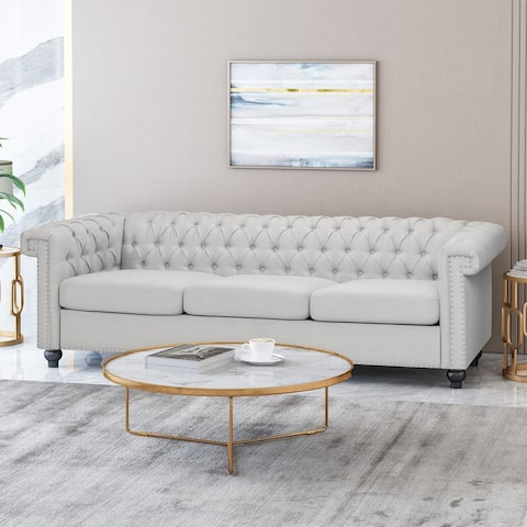 Parkhurst Tufted Chesterfield 3-seater Sofa by Christopher Knight Home