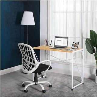 NOVAFURNITUREFoldingHomeOfficeComputerDesk forUrbanApartment and Dormitory, GoldenOAK Desktop