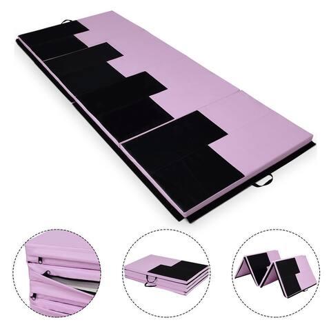Gymax 4'x10'x2'' Gymnastics Mat Folding Portable Exercise Aerobics