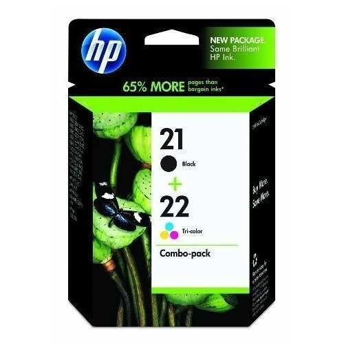 HP 21 Black & 22 Tri-color 2 Original Ink Cartridges (C9509FN) (Single Pack)
