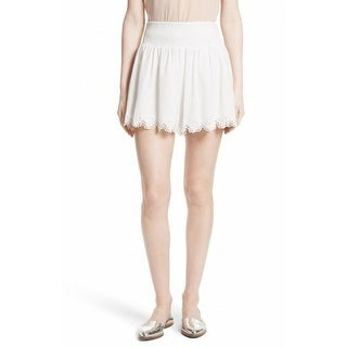 Rebecca Taylor NEW White Ivory Womens Size Medium M Smock Waist Shorts
