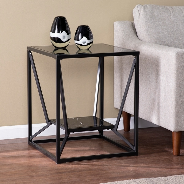 Strick & Bolton Aerisill Contemporary Black Metal End Table. Opens flyout.