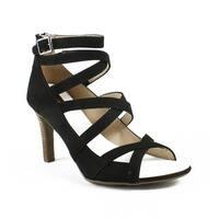 Franco Sarto Womens E8038f1 Black Ankle Strap Sandals Size 9.5