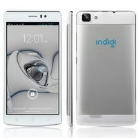 Indigi® V19 Factory Unlocked 3G GSM+CDMA 5.5inch HD Android 4.4 KitKat Dual-Core Dual-Sim Smartphone (White) - Silver/White