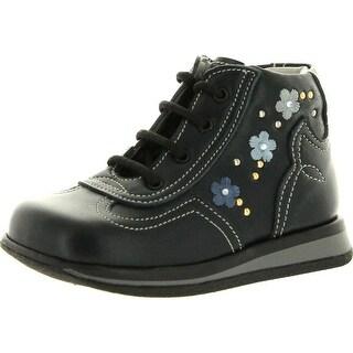 Iacovelli Girls 4101 First Walker Italian Lace Up Booties