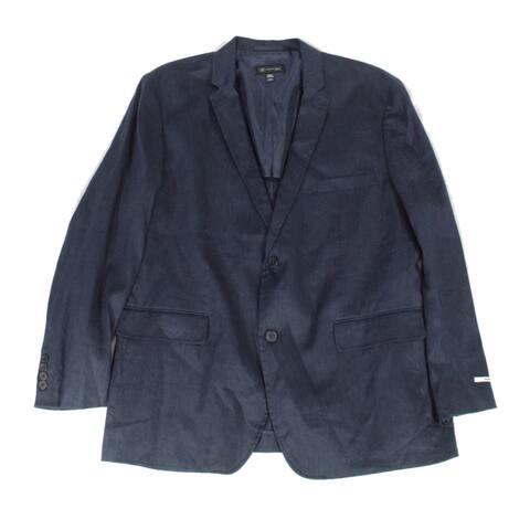 INC Mens Blazer Navy Blue Size XL Slim Fit Two Button Notch-Collar