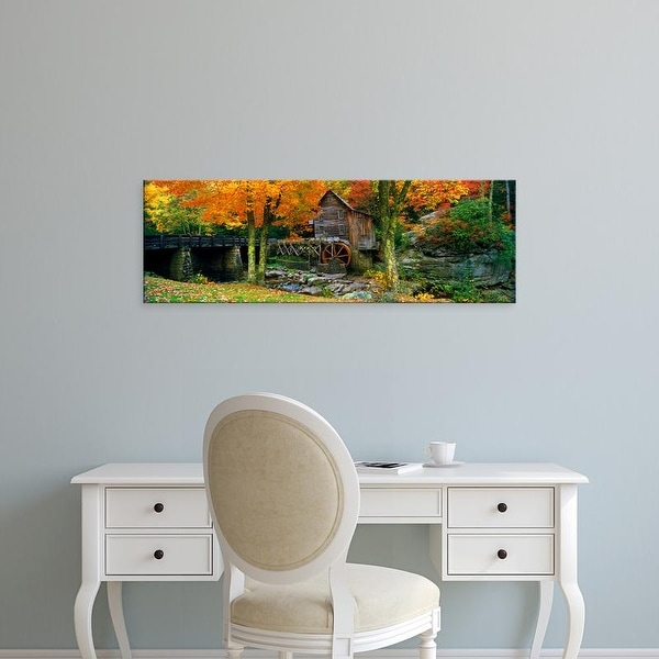 Easy Art Prints Panoramic Image 'Power station, Glade Creek Grist Mill, Babcock Park, West Virginia' Canvas Art