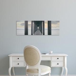 Easy Art Prints Panoramic Image 'Scripps Pier into the Pacific Ocean, LJolla, San Diego County, California' Canvas Art