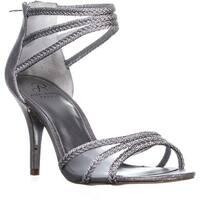 Adrianna Papell Adler Braided Strappy Sandals, Silver Metallic - 10 us / 40 eu