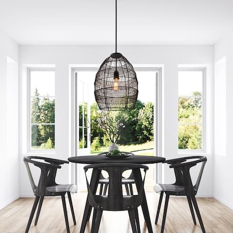 Carbon Loft Faulhaber 18.5-inch Woven Modern Cage Oversized 1-light Pendant