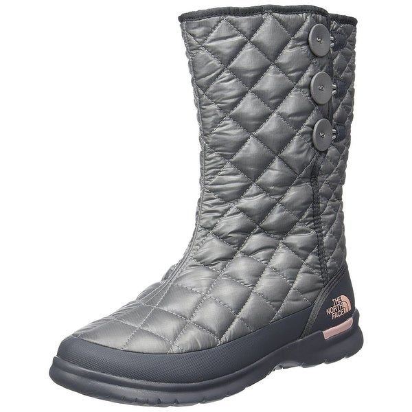 The North Face Womens Thermoball Button Up Round Toe Mid-Calf Cold Weather Bo...