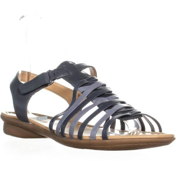 Shop Naturalizer Wade Flat Comfort Sandals Blue Multi