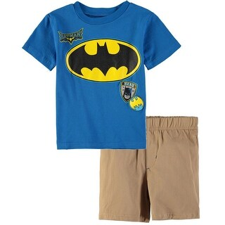 Bentex Boys 2T-4T Batman Short Set - Blue