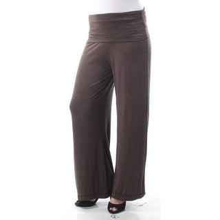 STUDIO M $68 Womens New 8754 Brown Faux Suede Wide Leg Casual Pants S B+B