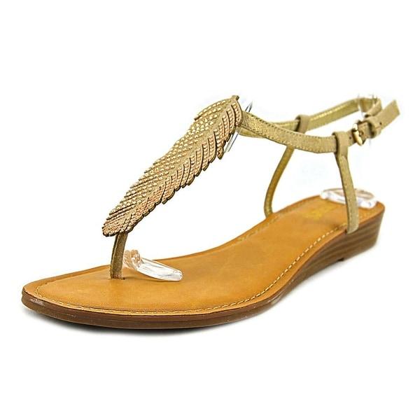 Carlos by Carlos Santana Tenor Women Open-Toe Synthetic Tan Slingback Sandal
