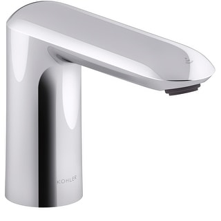 Kohler K-104K37-SANA  Kumin 0.5 GPM Single Hole Touchless Bathroom Faucet with Grid Drain, Kinesis Sensor and Mixer, DC-Powered