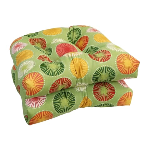 Blazing Needles 19-inch U-Shaped Dining Chair Cushions (Set of 2)
