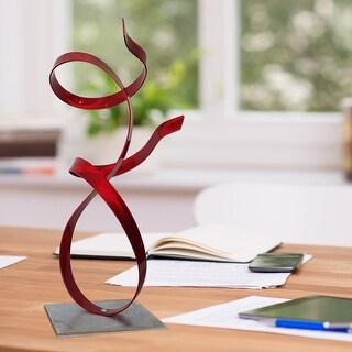 Statements2000 Metal Art Accent Sculpture Centerpiece by Jon Allen - Red Allure
