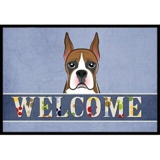Carolines Treasures BB1409MAT Boxer Welcome Indoor & Outdoor Mat 18 x 27 in.