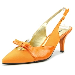 Proxy Carey Women W Pointed Toe Synthetic Orange Slingback Heel