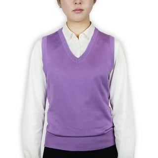 Ladies Classic Sweater Vest (Option: S)