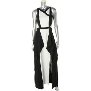BCBG Max Azria Womens Alyssia Evening Dress Colorblock Sheath - 0