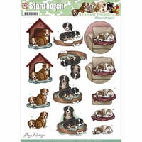 Find It Trading Amy Design Animal Medley Punchout Sheet, Dogs