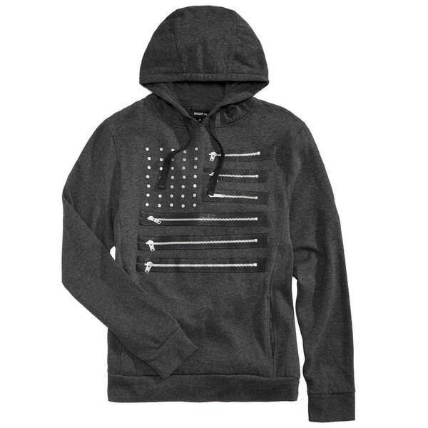 Ring Of Fire Mens Zipper Flag Hoodie Sweatshirt, Grey, Medium. Opens flyout.