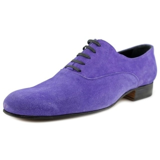 Gold Brothers Marion Men Round Toe Suede Blue Oxford