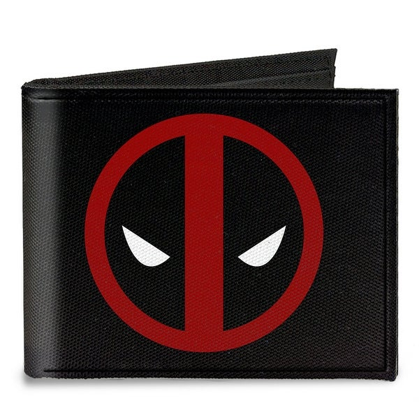 Deadpool Logo Black Red White Canvas Bi Fold Wallet One Size - One Size Fits most
