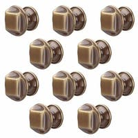 10 Cabinet Knob Antique Brass 1 1/4 Dia |Renovator's Supply