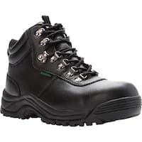 Propet Men's Shield Walker Boot Black Full Grain Leather