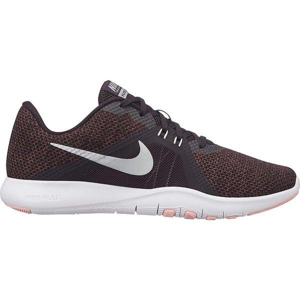 43644b9f5aec Shop Nike Women s Flex Tr 8 Training Shoe Burgundy Ash Metallic Silver - Free  Shipping Today - Overstock - 26040519