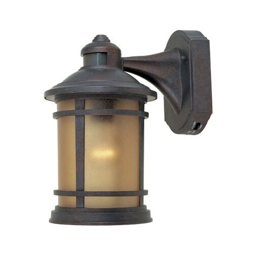 """Designers Fountain 2371MD-MP 1 Light 7"""" Cast Aluminum Wall Lantern with Motion Detector and Photocell Modes"""