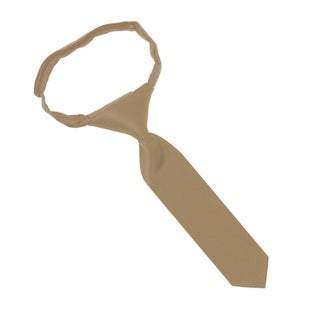 "Jacob Alexander Infant's Toddler's 8"" Pretied Ready Made Solid Color Hook and Loop Band Tie (Option: TAN)"