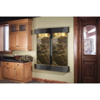 Adagio Cottonwood Falls Fountain w/ Green Rainforest Marble in Blackened Copper