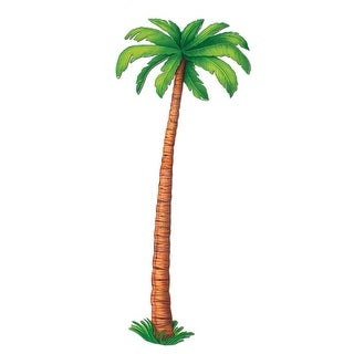 Club Pack of 12 Tropical Luau Jointed Palm Tree Party Decorations 6'