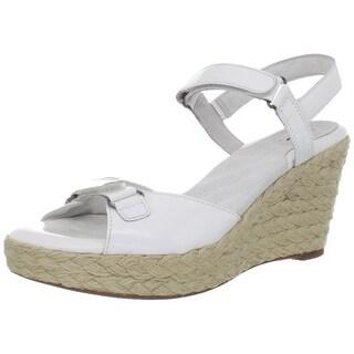 Softwalk NEW White Womens Shoes Size 9.5N San Marino Wedge Sandal