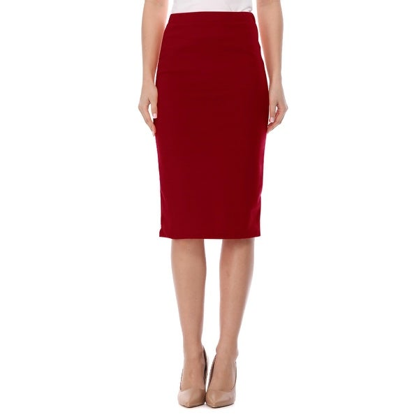 Women's Casual Solid Midi Skirt