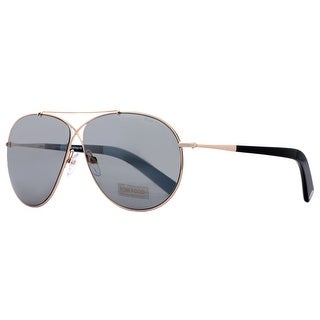 Tom Ford Eva TF 374 28Q Rose Gold/Blue Gray Unisex Aviator Sunglasses - rose gold - 61mm-10mm-140mm