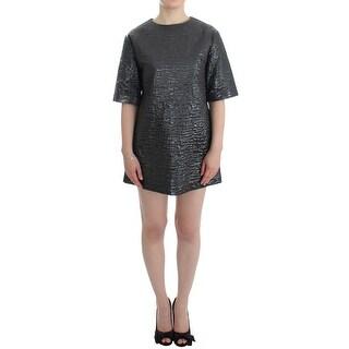 House of Holland House of Holland Silver metallic short sleeve dress
