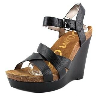 Sam Edelman Nelson Women  Open Toe Leather  Wedge Sandal
