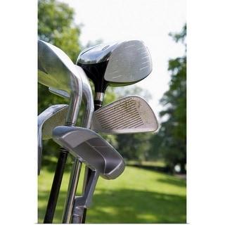 """Golf clubs"" Poster Print"